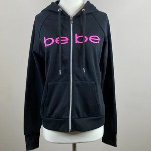 Bebe Hoodie Zip Front Sweatshirt New With Tags Med